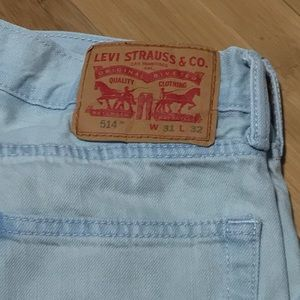 Levi's 514 Light Blue Jeans 31x32 Used Some Stains